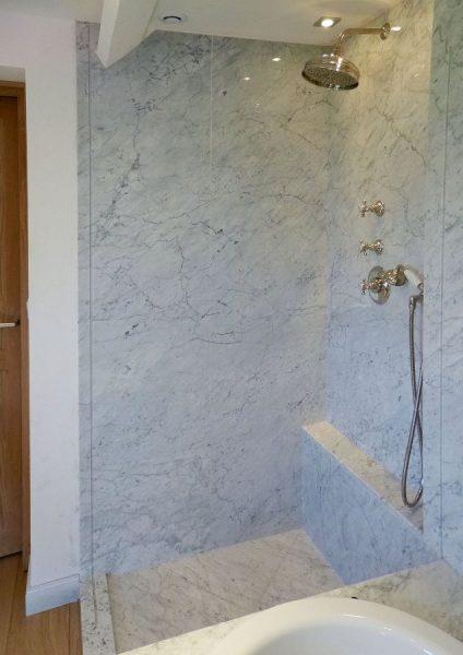 Marbre blanc carrare C extra - Architecte Yann Tiberghien
